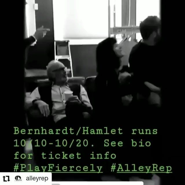 #Repost @alleyrep • • • • • • A little rehearsal action. Snag those tickets today for Bernhardt/Hamlet by Theresa Rebeck. Pay-what-you-want preview on Oct. 10. Opening night October 11. #playfiercely #theater #AlleyRep #Idaho #GardenCity #Boise