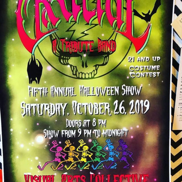 "#Repost @newtransitmusic• • • • • •Catch each and every member of New Transit moonlighting in @GratefulTributeBand next weekend @vacuber! It's the 5th Halloween show. Tickets are on @eventbrite just search ""Grateful5""....#Grateful #GratefulBoise #GratefulDead #GratefulTribute #GratefulBand #Deadhead #DeadTribute #VacUber #VACBoise #VisualArtsCollective #GardenCityIdaho"