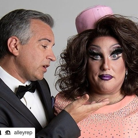"#Repost @alleyrep • • • • • • Four weeks away from opening weekend of ""La Cage Aux Folles"" (music and lyrics by Jerry Herman, book by Harvey Fierstein) at Visual Arts Collective. Get those tickets now at alleyrep.org! #PlayFiercely #AlleyRep #GardenCity #Idaho #liveworkcreate #lacageauxfolles 📷 by @maceysnelsonphotography"